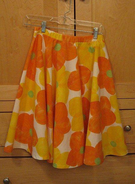 6e2c40e22e How to make a circle skirt with an elastic casing waistband | My Imaginary  Blog