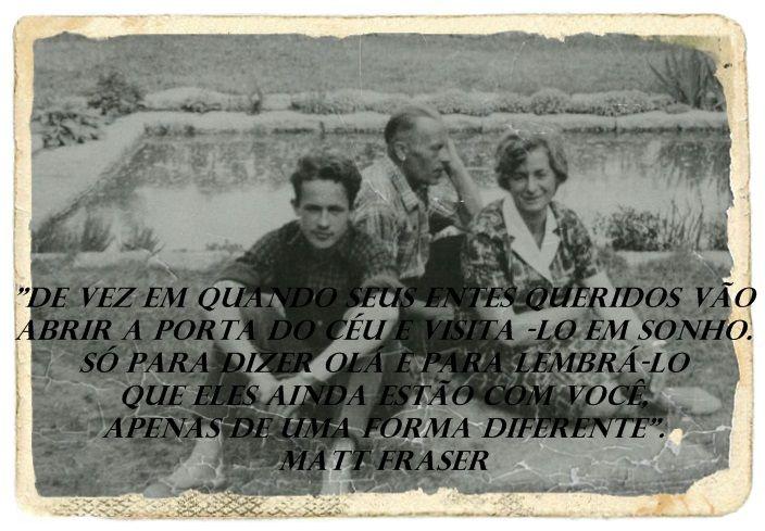 """""""Mesmo separados pela guerra..mesmo separados pelo mar e anos...ainda assim podemos nos conectar com nossos familiares!"""""""