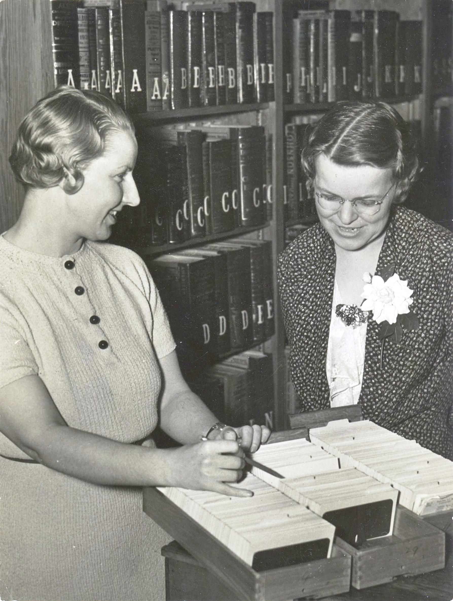 #tbt Librarian Dorothy Drake and Grace Taylor Dean in the early 1940s.