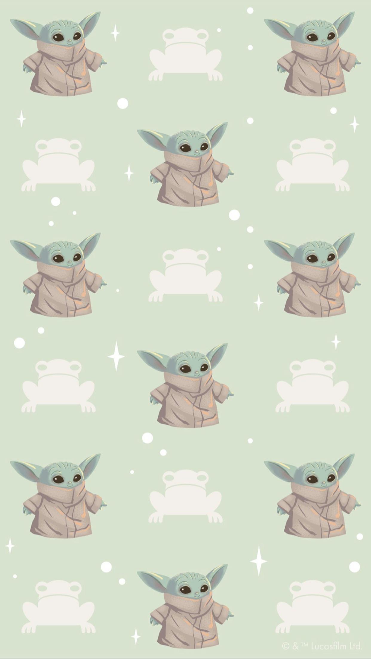 Pin By Nikki Jones On Mandalorian Yoda Wallpaper Cute Cartoon Wallpapers Star Wars Artwork