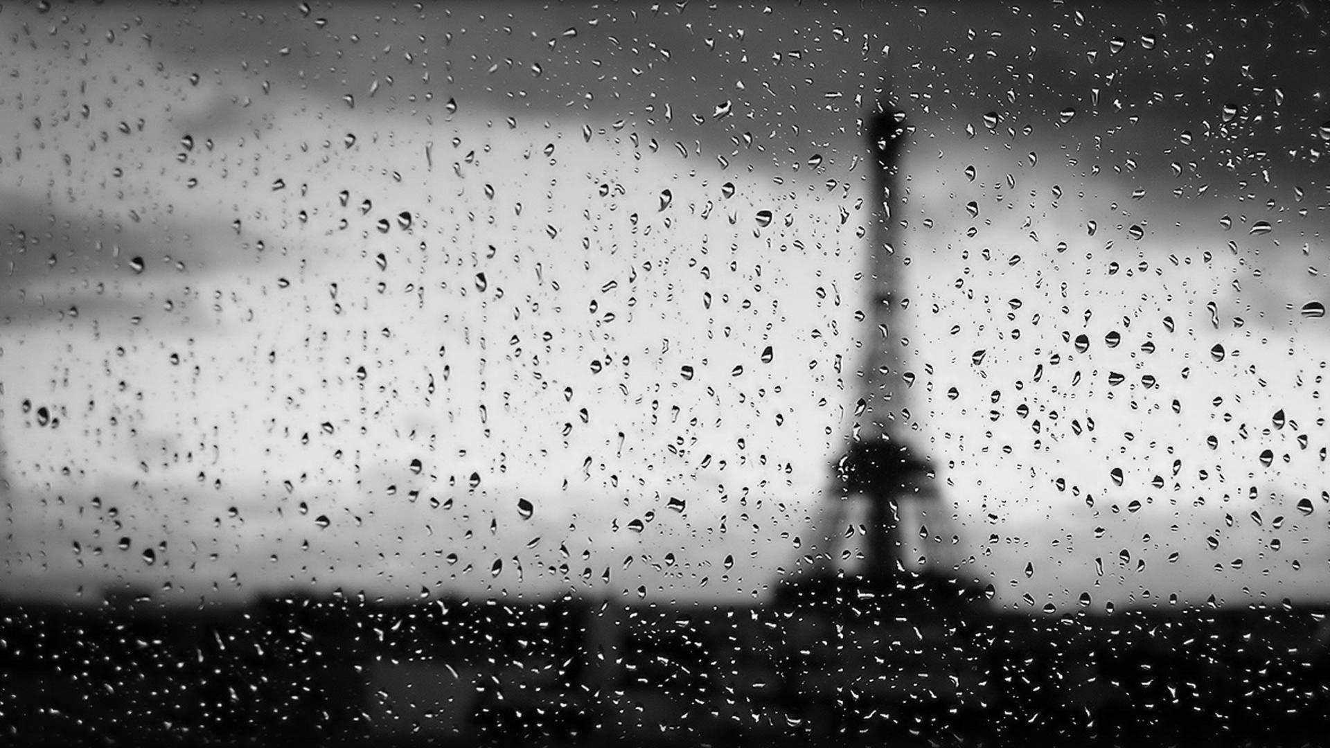 Black And White Paris Wallpaper Hd Places To Visit Rain Paris