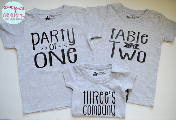 fcc5b6e5a8 Sibling Shirts Set of Three Triplets Brother Sister Birth Announcement Baby  Shower Gift Party of One