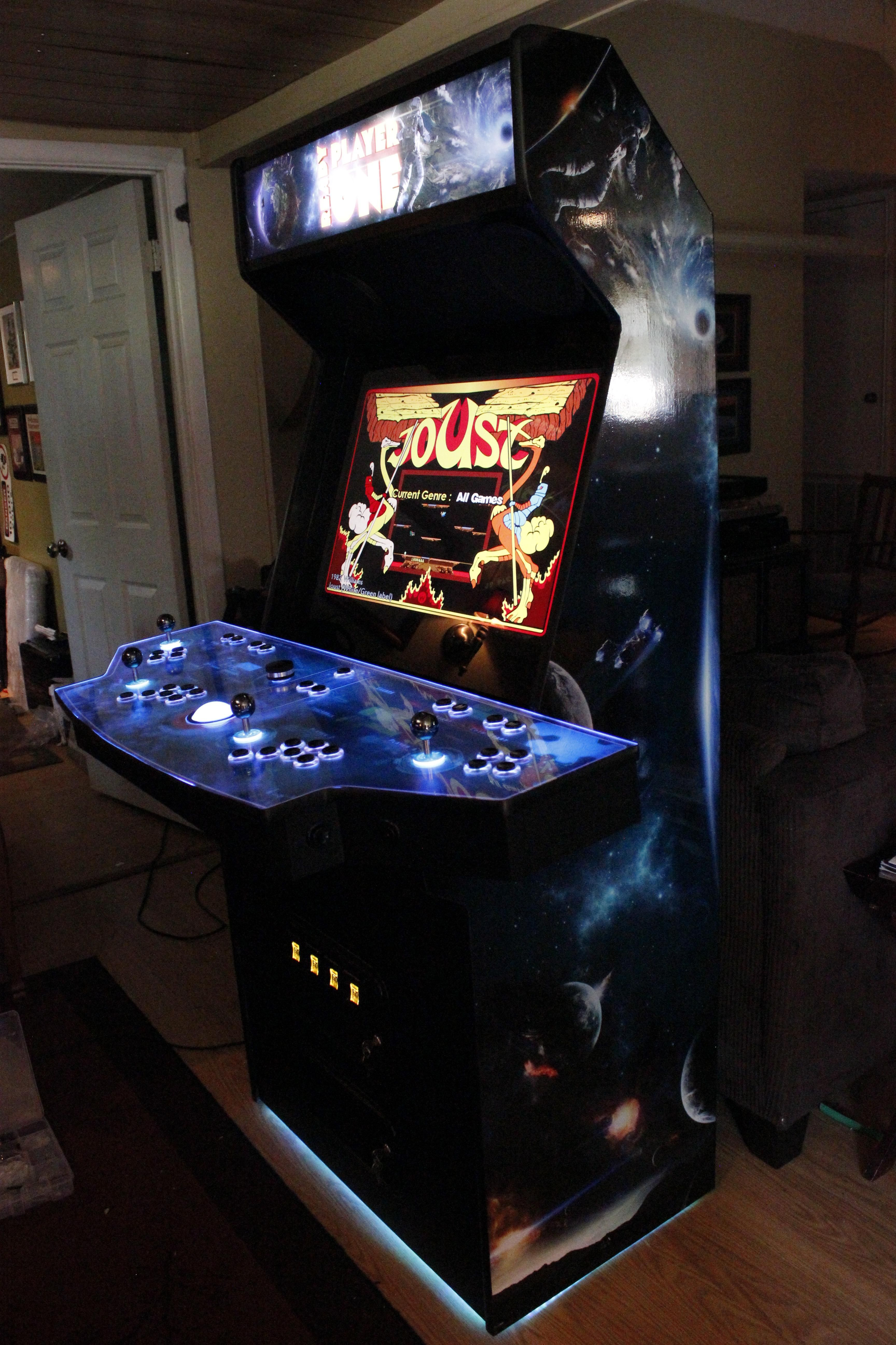 This Ready Player One Arcade I Built R Diy Arcade Game Room