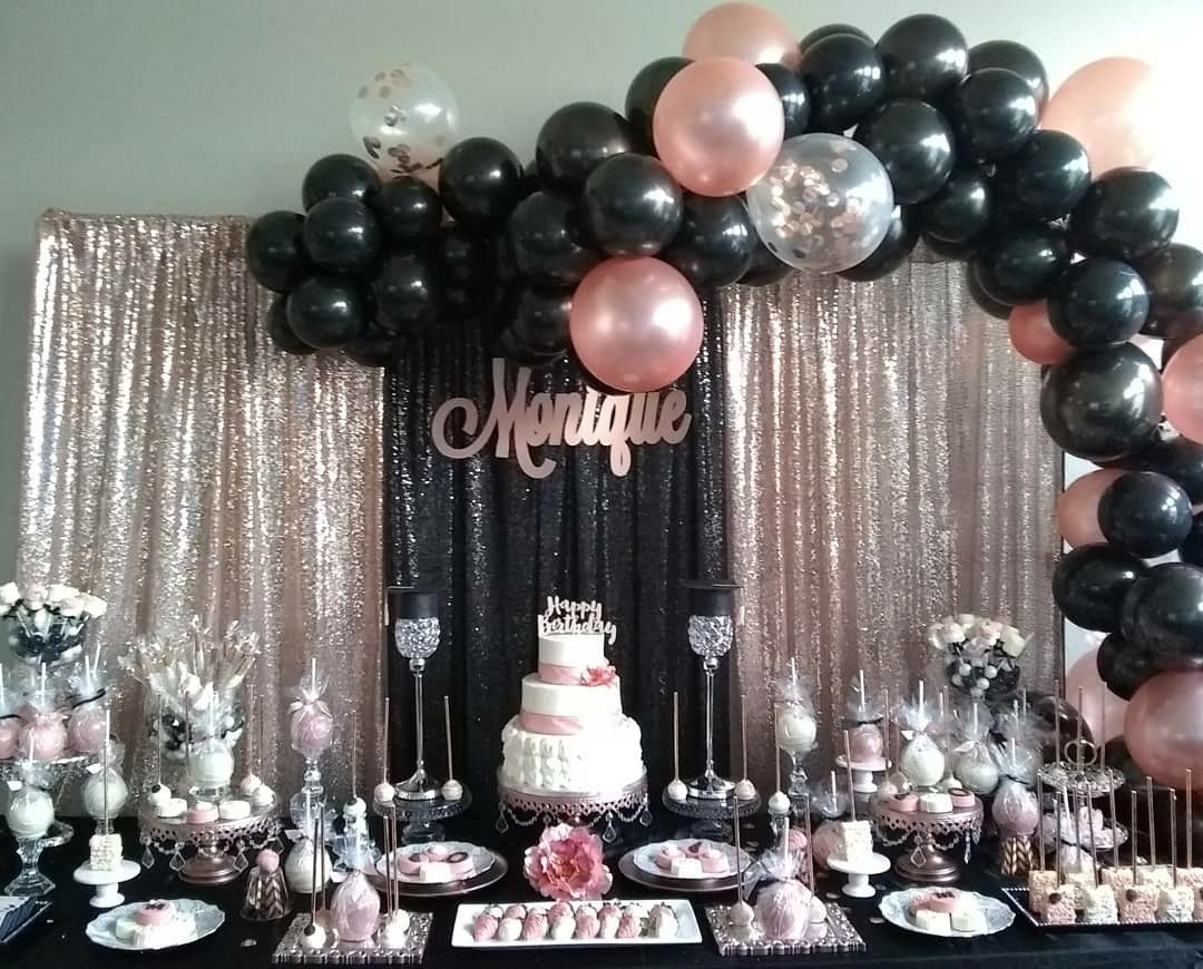 Pink Rose Gold Party Rose Gold Party Decor Rose Gold Party Gold Birthday Party Decorations