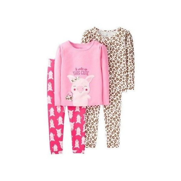 30 4 Piece Pink Pig Animal Print Cotton Pj Just One You Made By