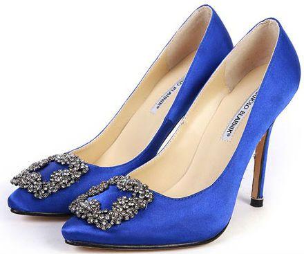 55259a30f Something blue - Manolo Blahnik blue wedding shoes would be blue   new!   weddingring