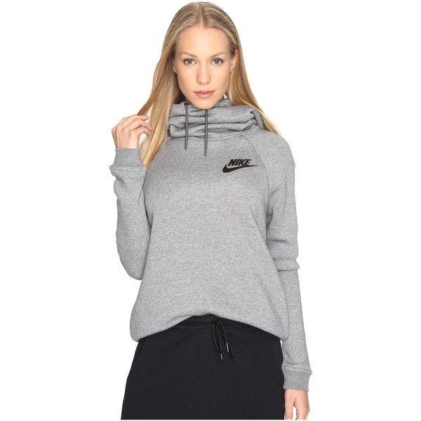 1e1b67b5fc43 Nike Sportswear Rally Funnel Neck Sweatshirt (Carbon Heather Dark... ( 45