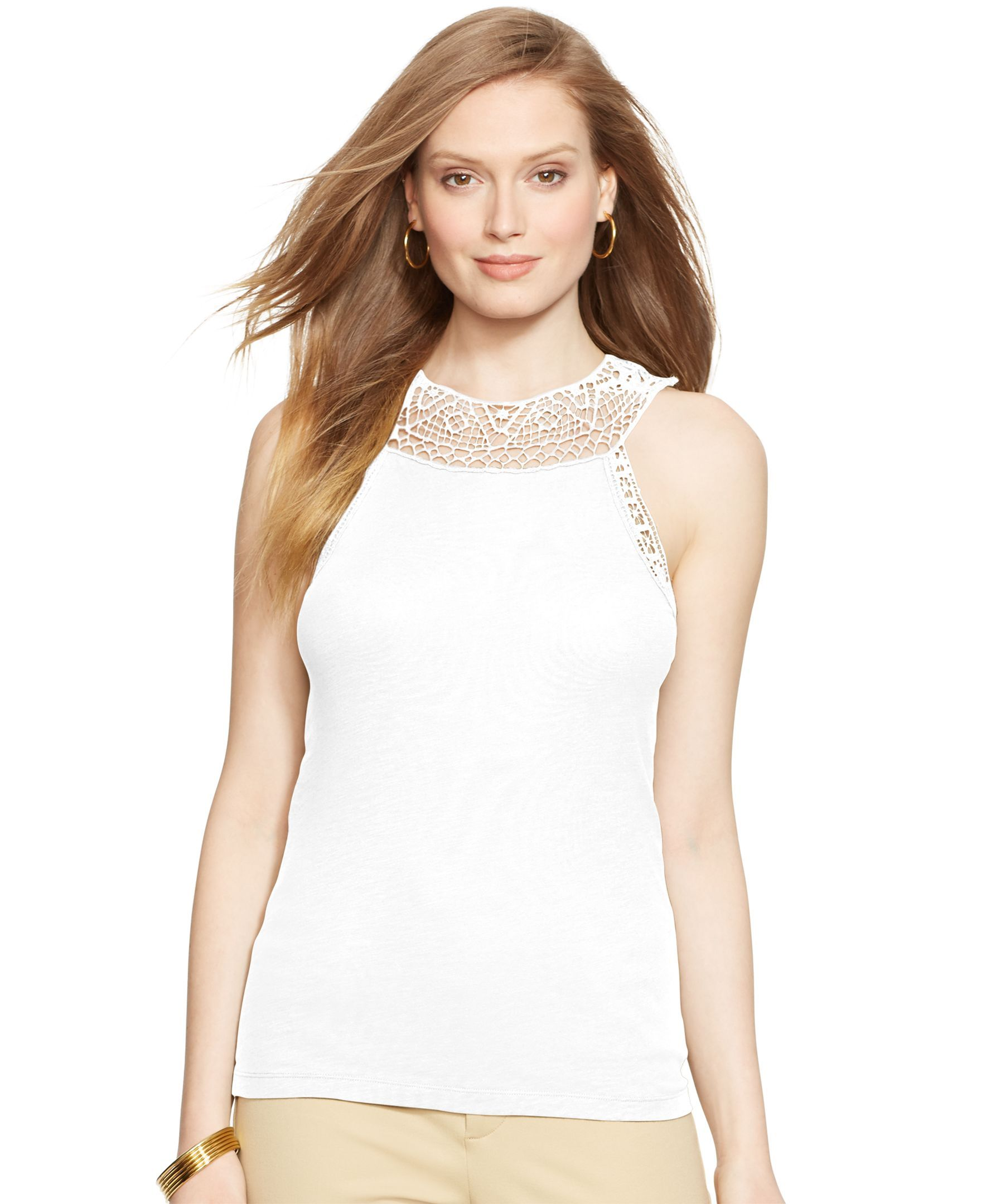Lauren Ralph Lauren Crocheted Tank Top  255546b09e6