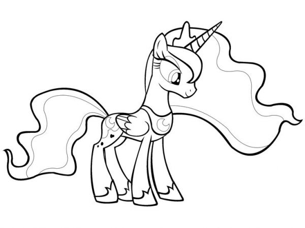 The Amazing Stunning My Little Pony Coloring Pages Princess Luna
