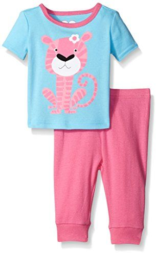 38116dfc9 The Childrens Place Baby Tiger Two Piece Sleep Set Caribbean 36 ...