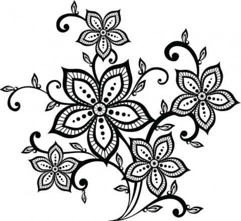 Diseños de arabescos para tatuajes | Hennas, Mandala and Flower sketches