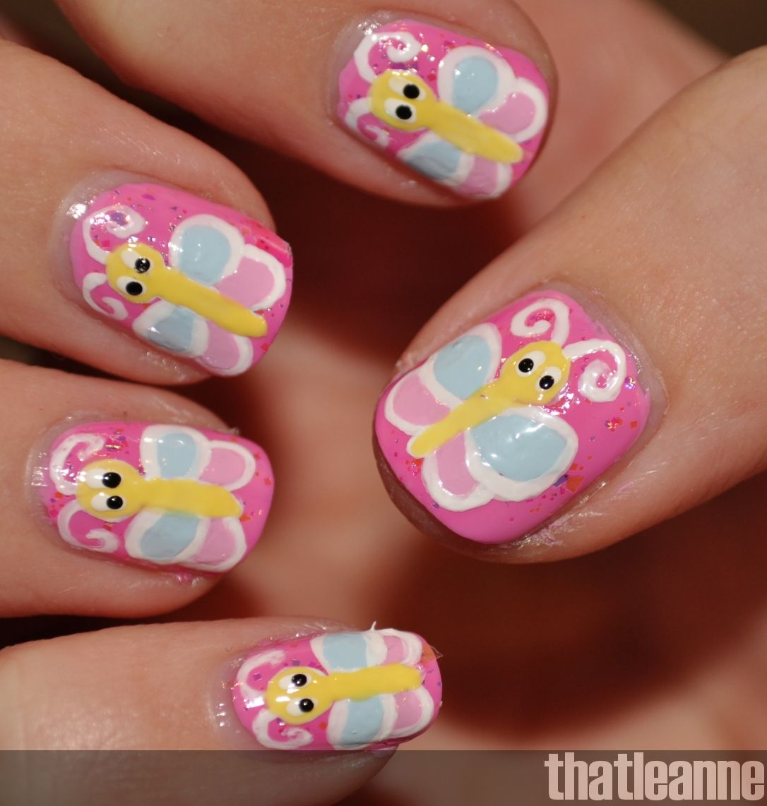 butterfly toe nail art designs | thatleanne butterfly nail art and ...