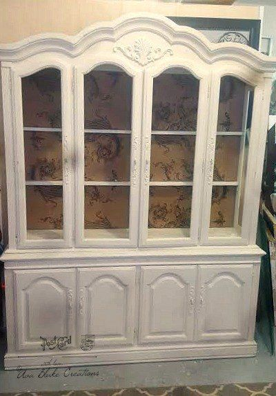 I Repainted A Vintage Hutch Ody And Especially Anyone With New Home Wanted This Huge 7ft Tall 6 5ft Wide Cabinet What Is Creative Gal To Do