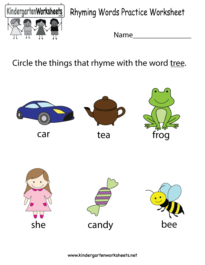 worksheet Kindergarten Rhyming Worksheets this is a cute rhyming words worksheet for preschoolers or practice free kindergarten english kids