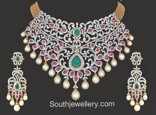 bridal indian diamond necklace