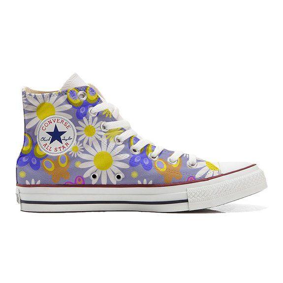 Converse All Star scarpe personalizzate (scarpe artigianali) Camomil  Texture size 40 EU