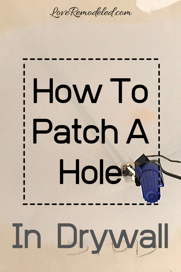 Using A Pumpkin Patch For A Hole In Drywall How To Patch Drywall Drywall Repair Patches