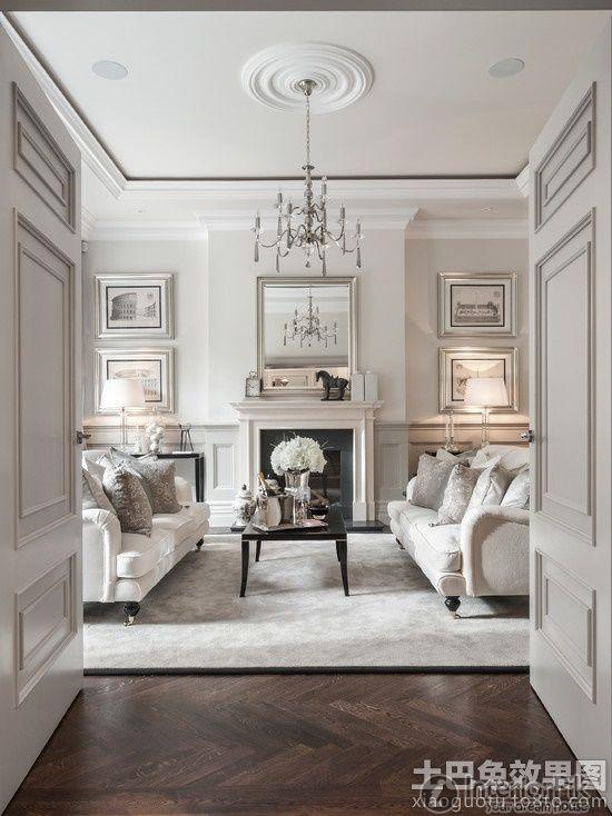 European Style Villas Scold Or Beat The Living Room Ceiling Gypsum Plasterboard Suspended Ceiling Renderings