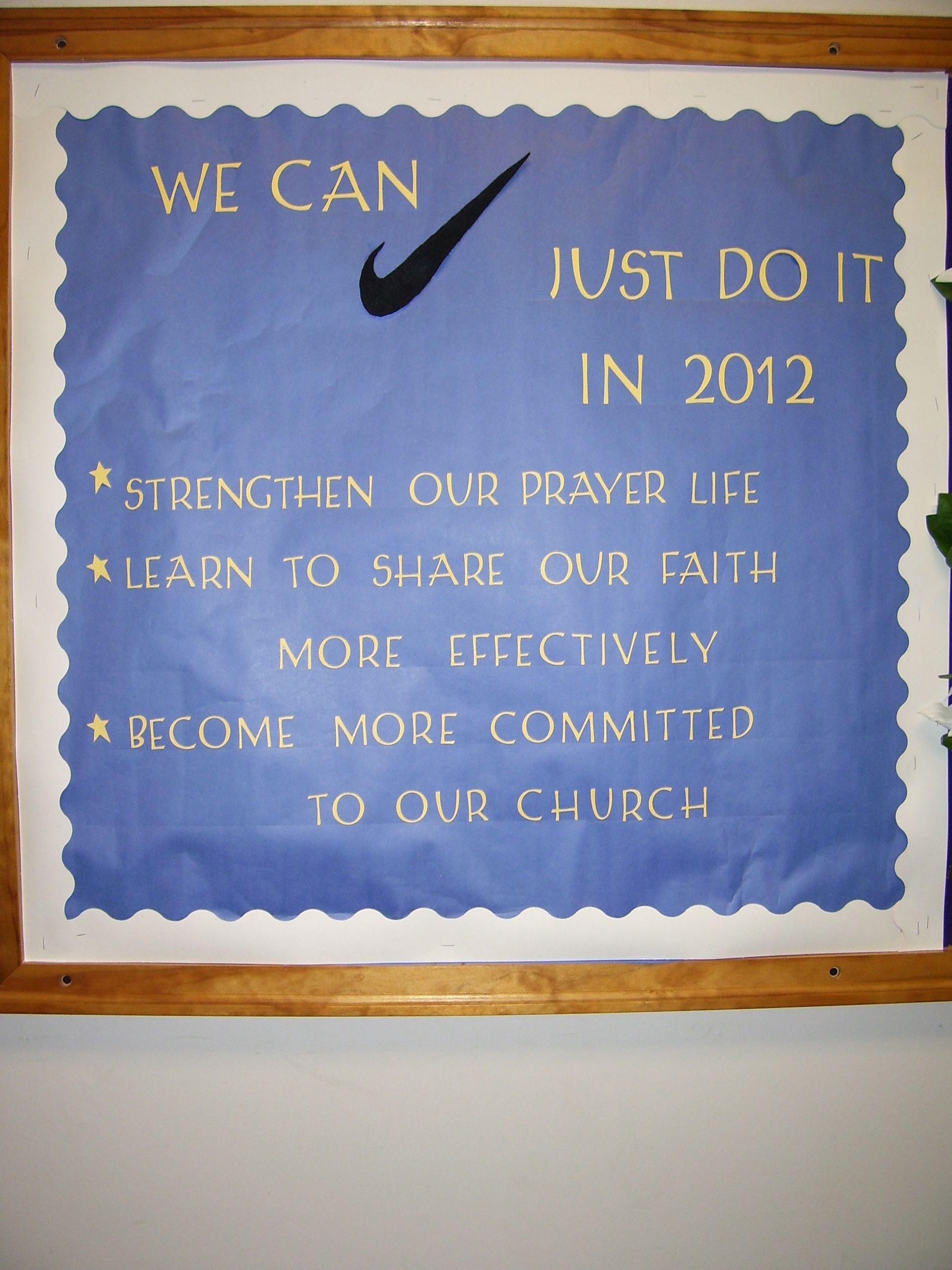 For a new year! | Church bulletin boards, Church bulletin ...