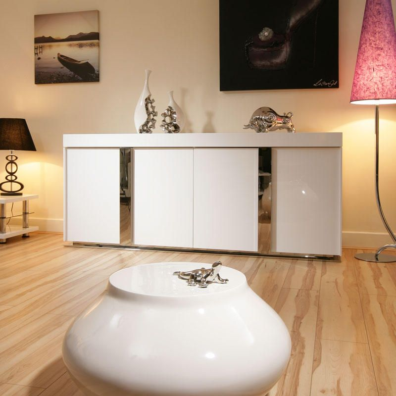 699 Bit Expensive Modern Sideboard Cabinet Buffet In White