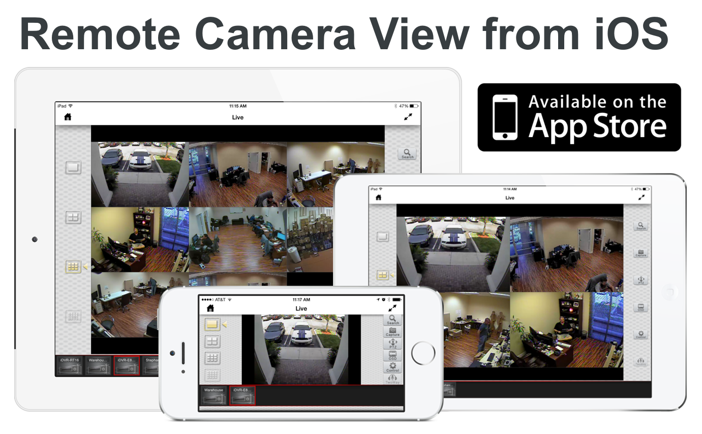 surveillance camera view on iphone