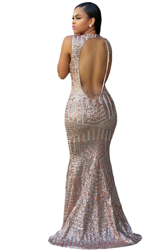 50.86 - Nice DearLover New Arrival Blush Sequins Keyhole Back Party Gown  Pageant Formal Robe De Soiree Vestido lentejuelas Sexy Longo LC60881 - Buy  it Now! 863d421347c3