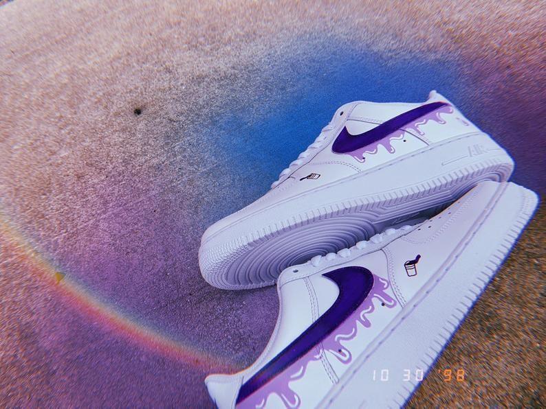 Purple Rain Air Force 1 Custom   Etsy