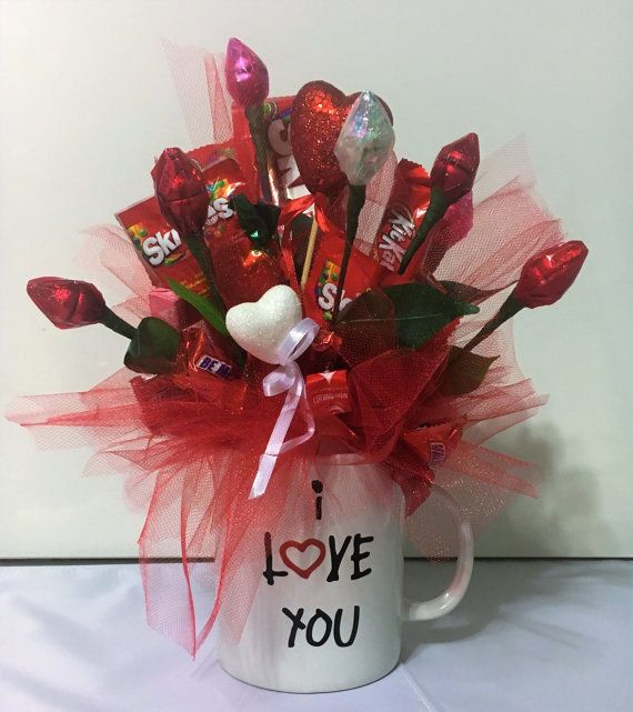 I love you Candy Bouquet, custom created | Candy bouquet, Flower and ...