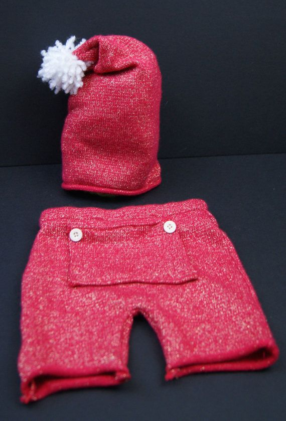 Upcycled newborn baby knit pants, hat Photo Prop created ...