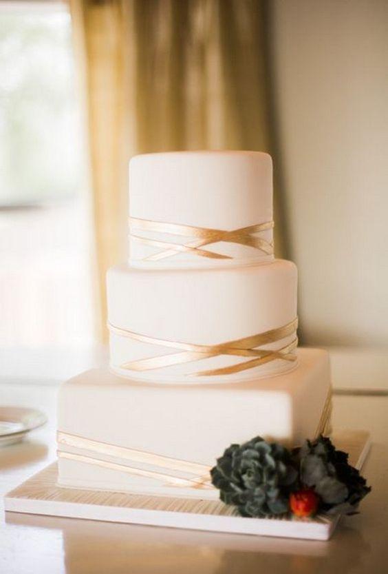 15 Simple but Elegant Wedding Cakes for 2018 | Wedding cake simple ...