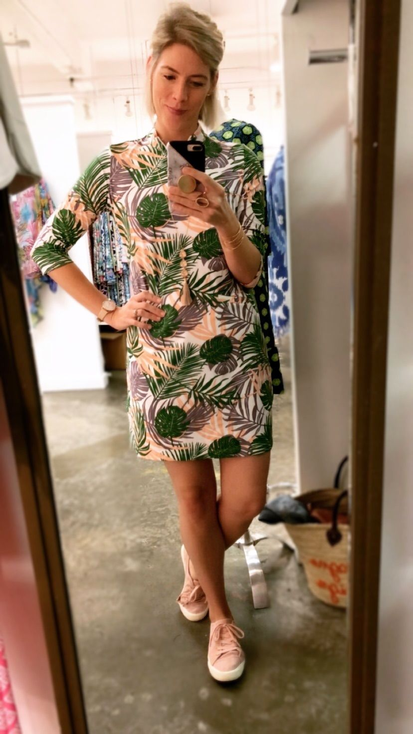 Doral Dress in Hideaway Apricot Green from The Katherine Way Resort