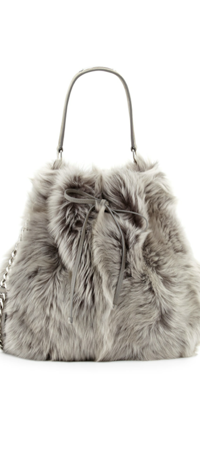 Ralph Lauren Shearling Fur Bucket Bag 9387558d6ba