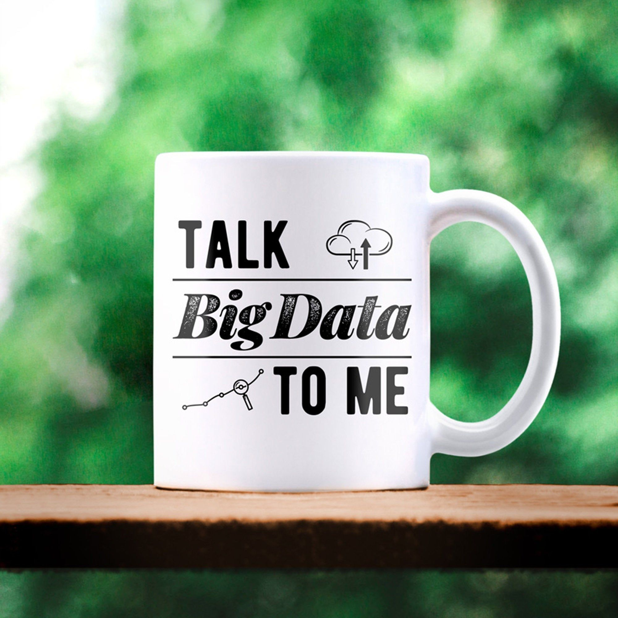 Big data mug data geek tech gift computer science talk