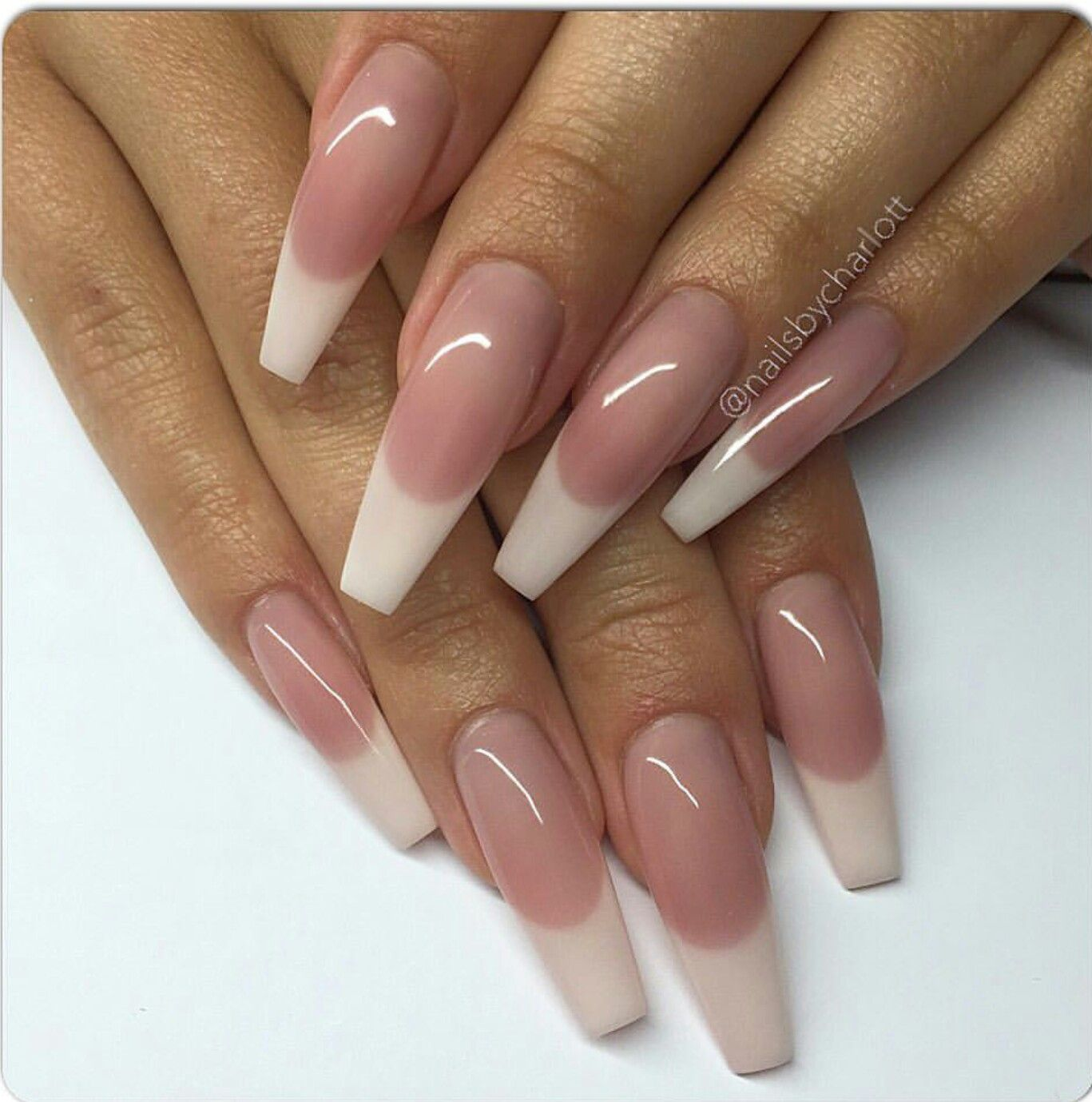 34 Luxury Coffin French Tip Nail Designs   French tip