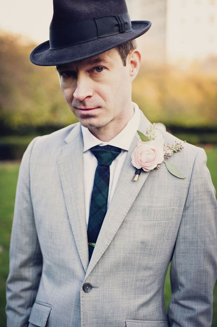 Fedora Hat - 20 Stylish Grooms   Groomsmen Looks for a 1950s Wedding c20fe041ad2