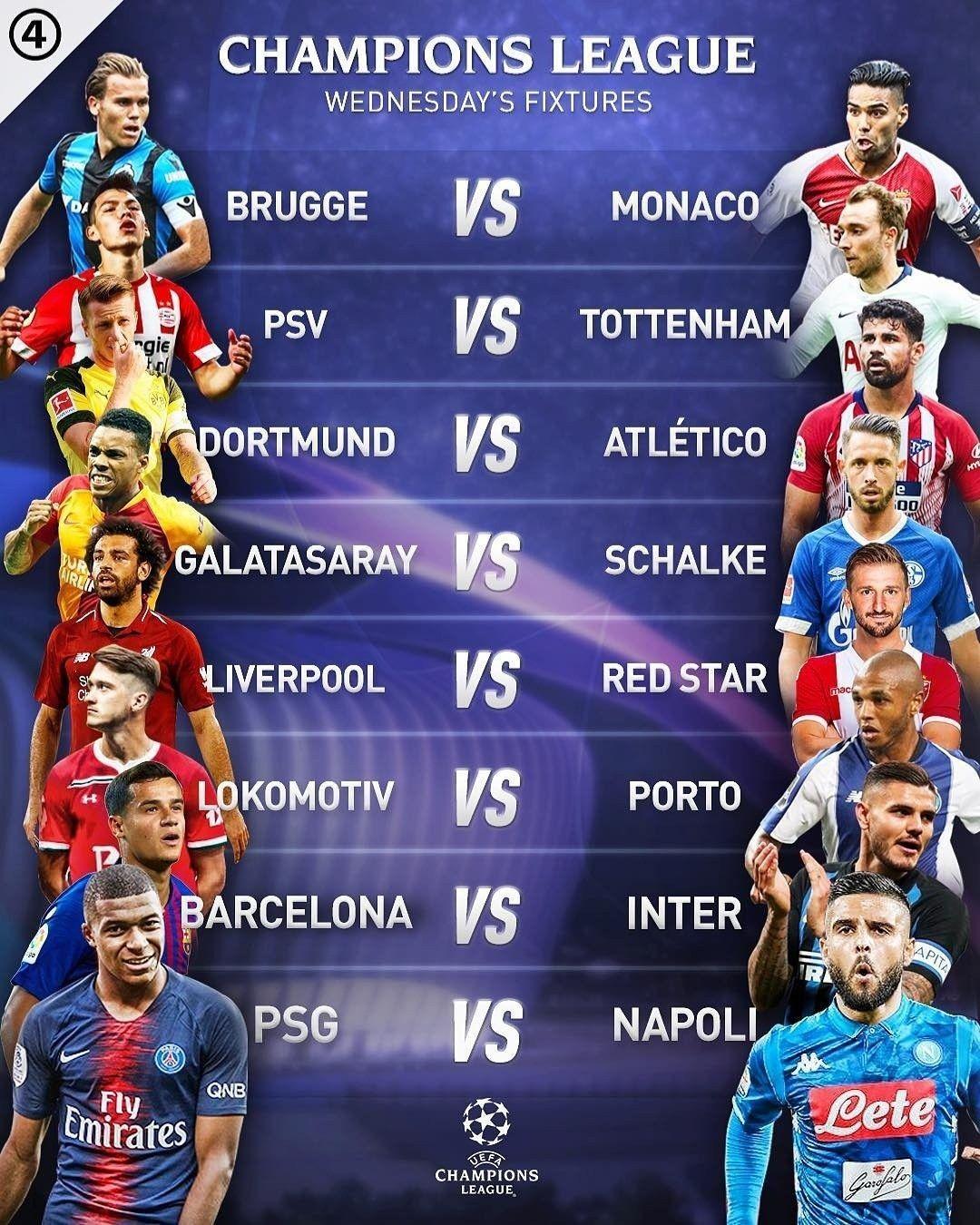 uefa champions league wednesday s fixtures best of uefa european championship champions league uefa european championship uefa champions league www pinterest jp