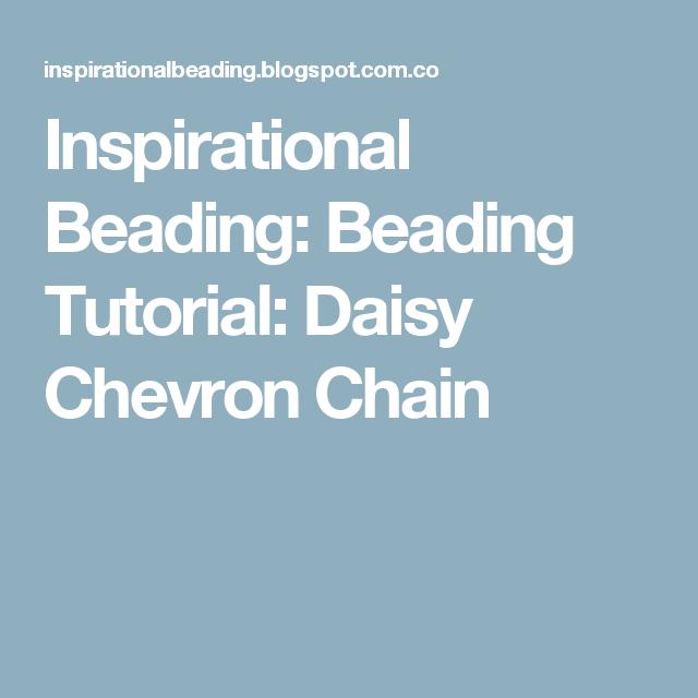 Inspirational Beading: Beading Tutorial: Daisy Chevron Chain
