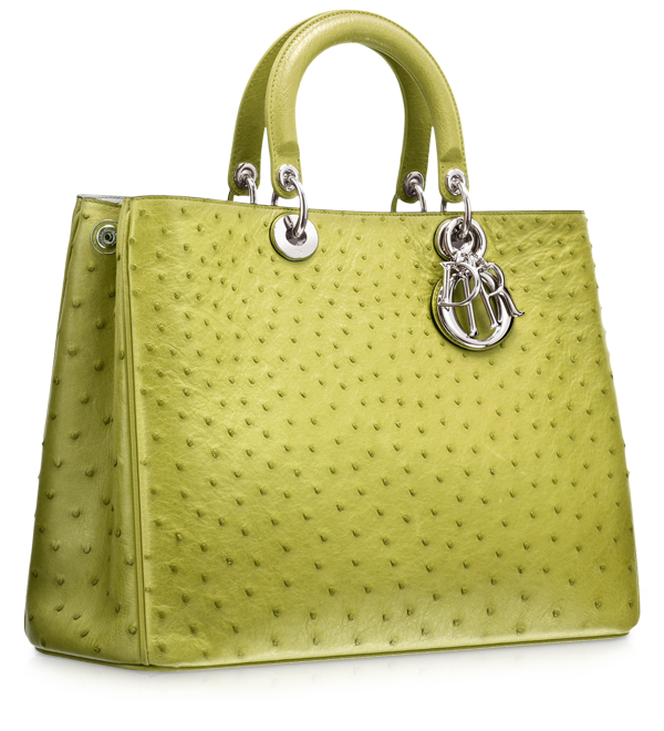 Green ostrich 'Diorissimo' bag