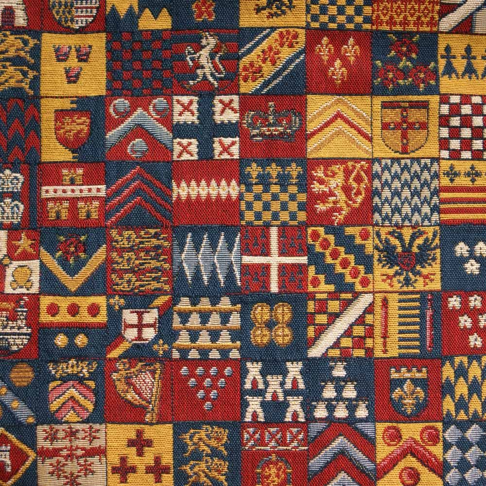 Medieval Heavy Coats Of Arms Curtain And Upholstery Fabric