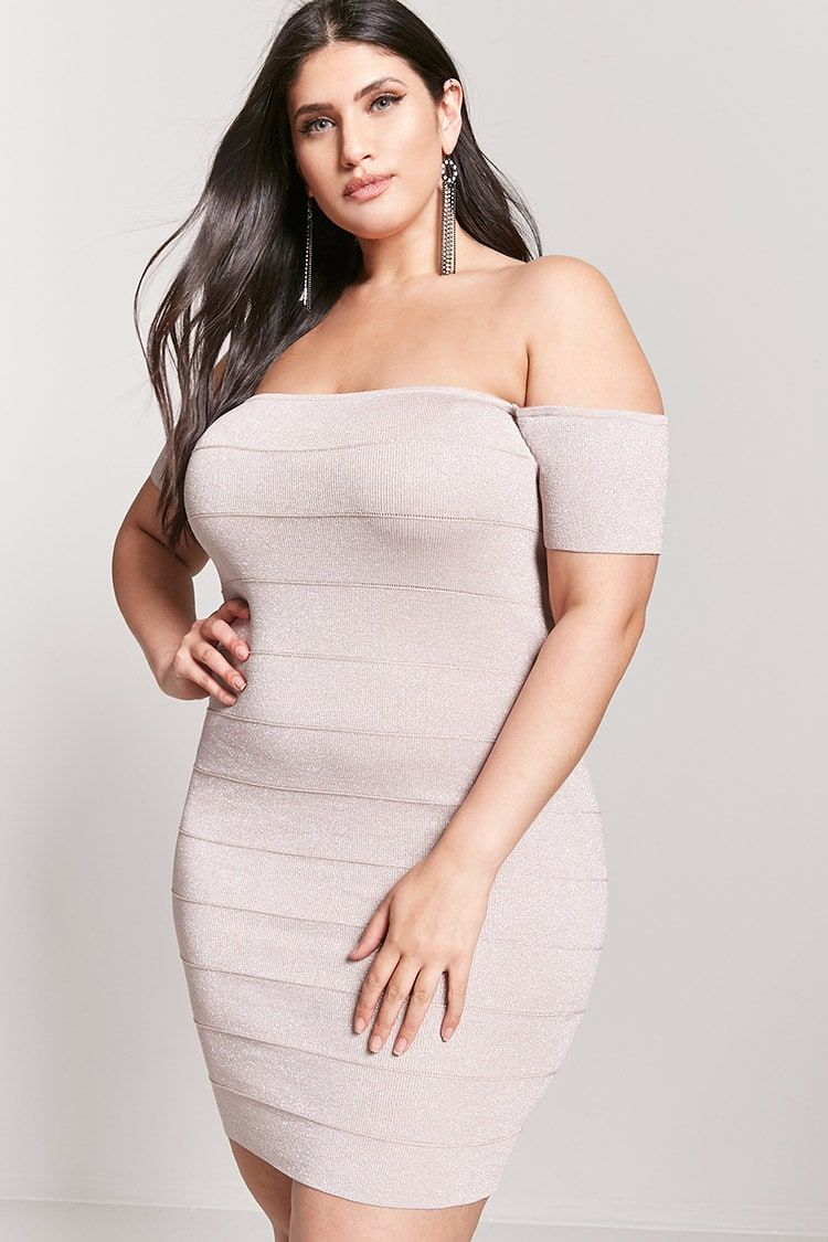 Product Nameplus Size Off The Shoulder Bandage Dress Category