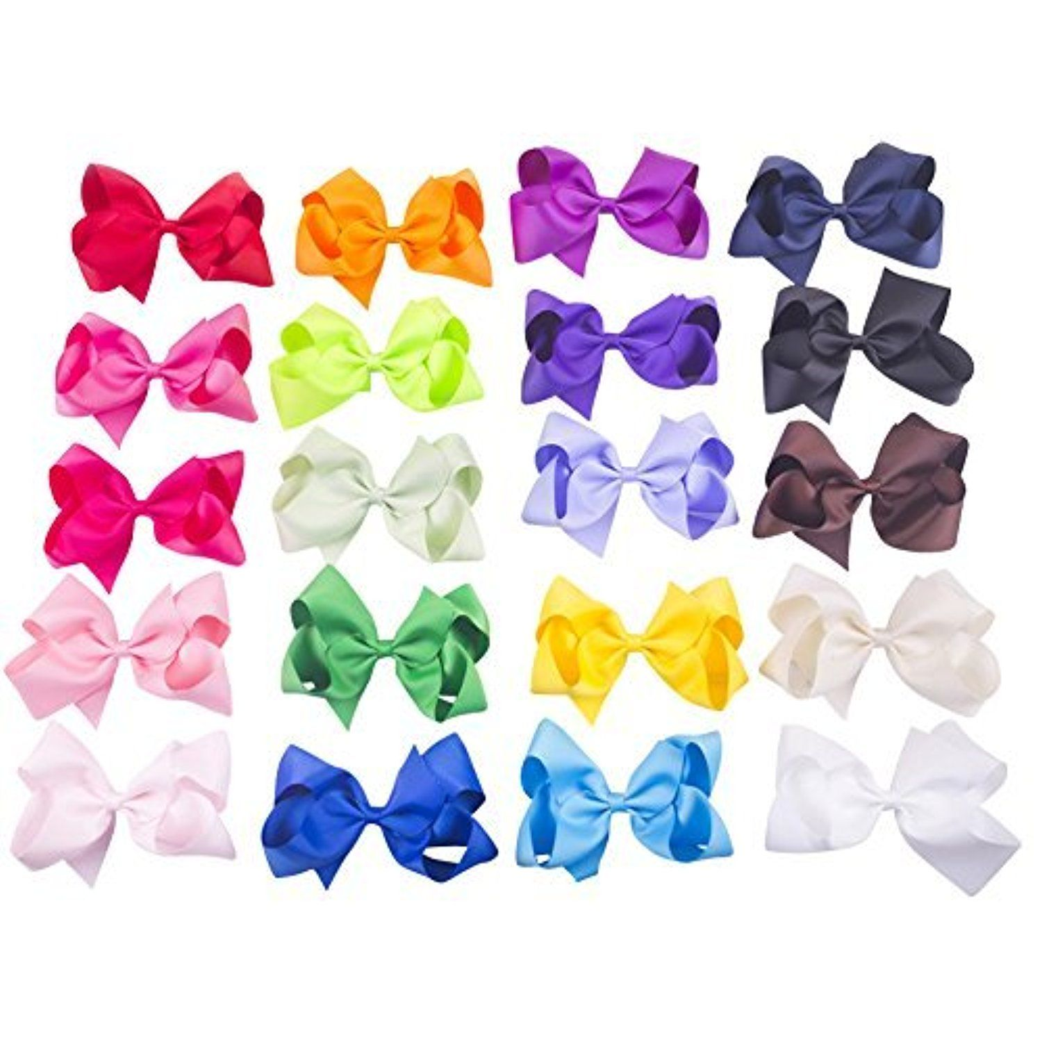 Bzybel boutique large big huge hair bow clips grosgrain ribbon