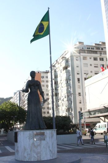 Statue of Princess Isabel, member of Brazil's royalty became famous when signing, on May 13, 1988, the Lei Áurea (Golden Law). The law abolished slavery in #Brazil. #Rio #RiodeJaneiro