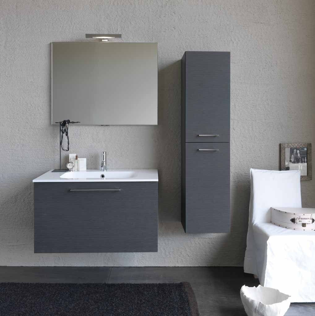 Mobile bagno moderno in grigio. #therapy4home #bagno #grey #design #home  Grey Bathroom ...