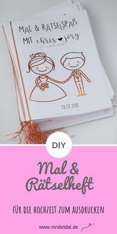 Libro para colorear y folleto de rompecabezas de la boda de Kathi – Sra. Bridal  – Boda