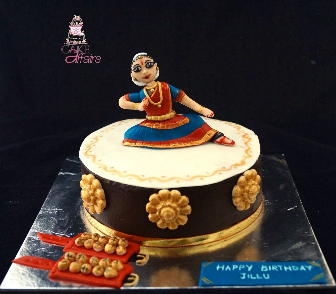 Fantastic Bharatnatyam Dance Cake Indian Classical Dance Fondant Topper Funny Birthday Cards Online Inifodamsfinfo