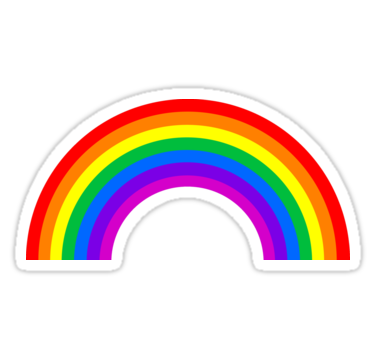 Rainbow Sticker By Ghjura In 2021 Rainbow Stickers Rainbow Bumper Sticker Tumblr Stickers