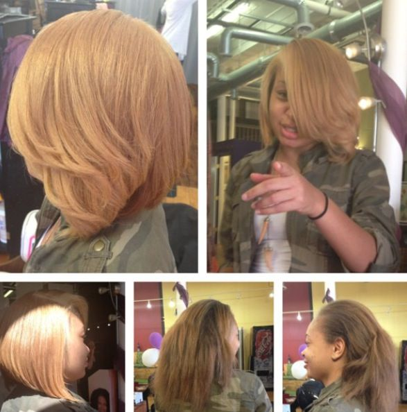 Isis The Salon Blonde Bob Sew In By Star Davis Richmond Va