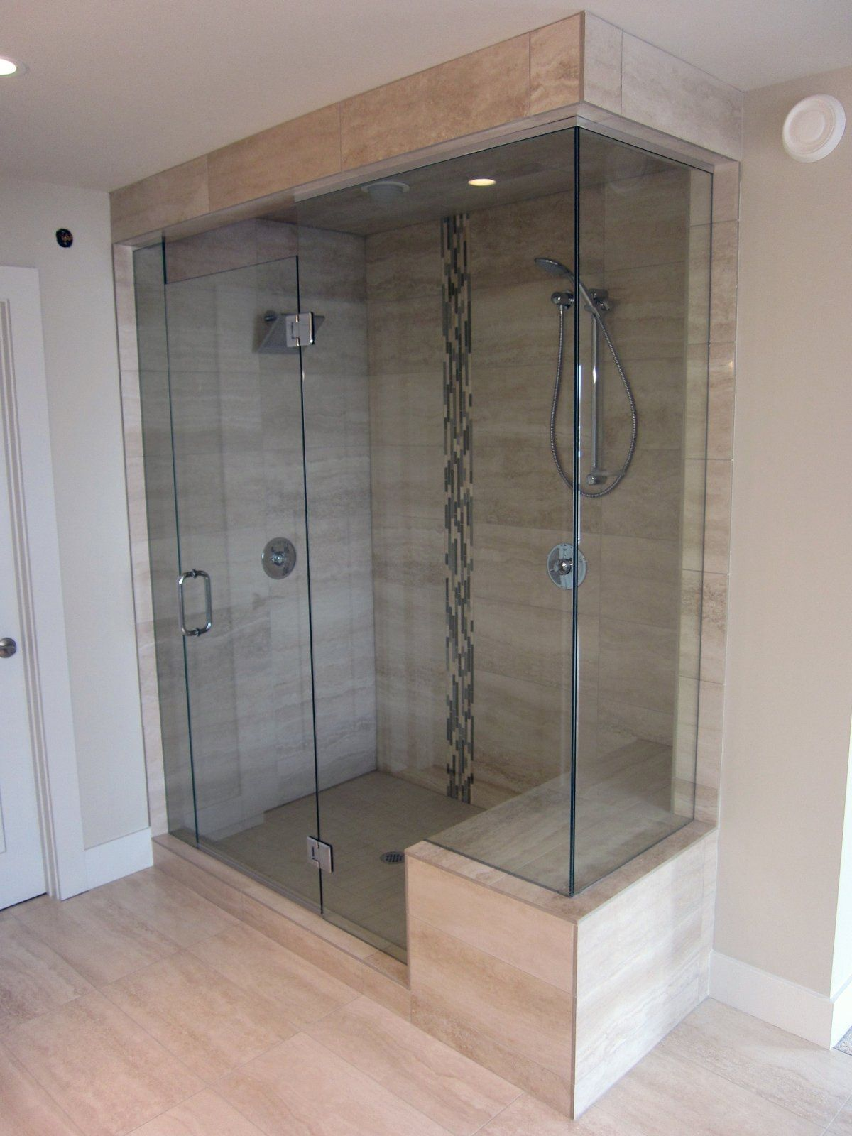 Kneewall in conjunction with bench remodeling pinterest glass frameless shower doors which first became popular in europe have recently become a favorite of calgary homeowners by calgary glass door planetlyrics Image collections