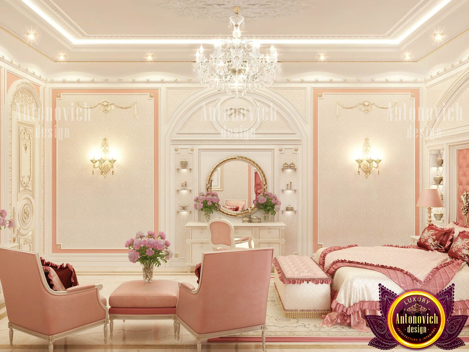 Best This Light Color In This Bedroom By Luxury Antonovich 400 x 300