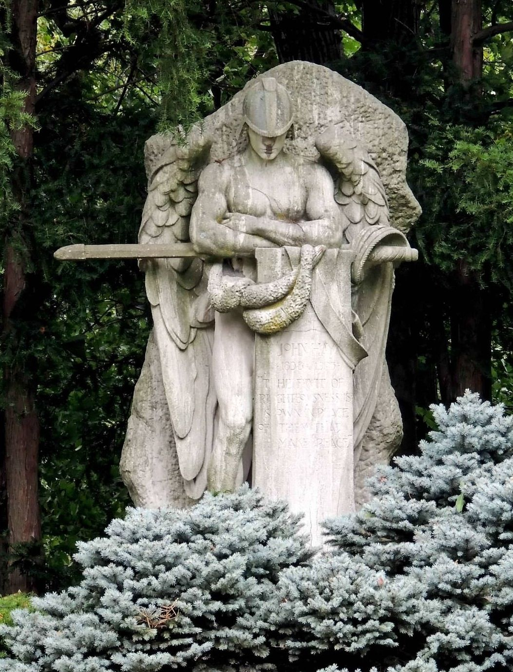 St Michael the Archangel grave marker at Lake View Cemetery, Cleveland, Ohio